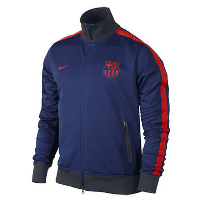 NIKE FC BARCELONA AUTHENTIC PLAYERS ISSUE STORM FIT N98 JACKET BlueRed