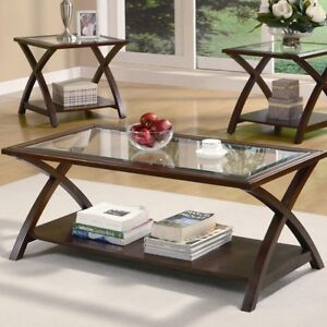 NEW Modern 3PC Coffee Table & End Tables!