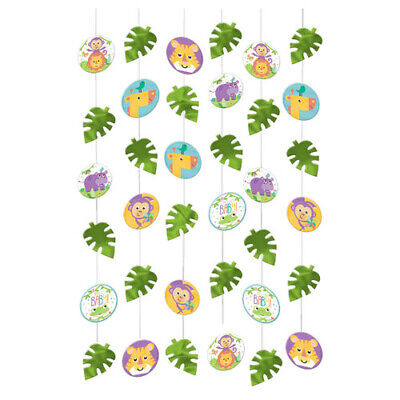 FISHER PRICE Hello Baby STRING DECORATIONS (6)~ Shower Party Supplies Cutouts - Fisher Price Baby Shower Decorations