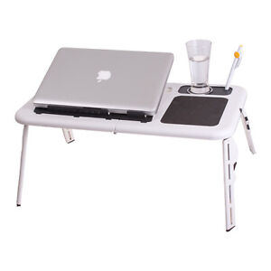 Adjustable-Portable-Laptop-USB-Folding-Table-W-2-Cooling-Fan-Mouse-Pad-New