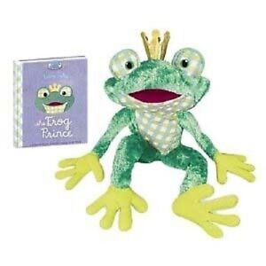 Frog-Prince10-with-Book-plush-NEW-by-YoTToY