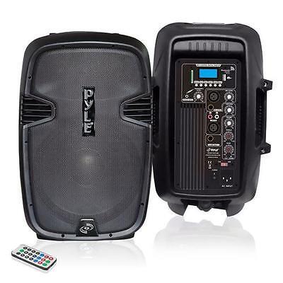 New  PylePro PPHP1037UB 10'' 700 Watt Powered Two-Way Speaker With MP3/USB/SD/B