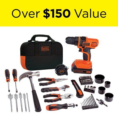 Black & Decker 120 Piece Drill Set 20-Volt MAX Lithium-Ion D