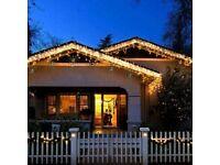 Solar String Lights Outdoor, 2 Pack 120 LED
