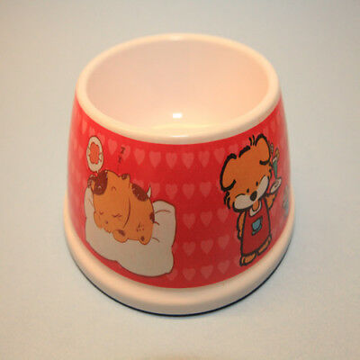 """Red White Cute Doggy Print Pet Dog Cat Food & Water Feeding Bowl 5"""" L x 2.5"""" H"""