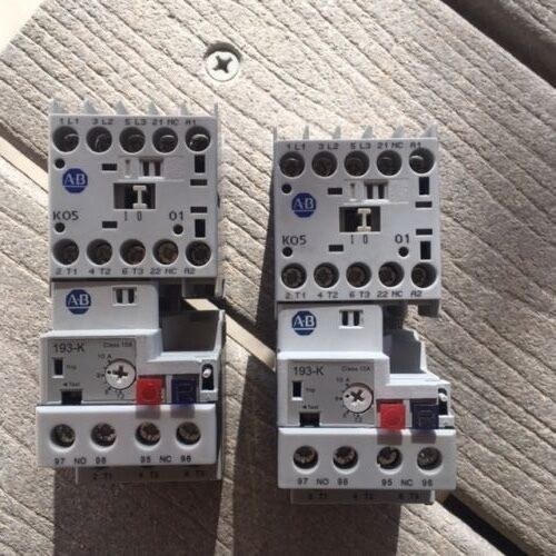 Two Very Good Used, Allen Bradley Three Phase IEC Motor Starters With Overloads