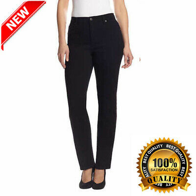 Ladies Stretch Denim (Gloria Vanderbilt Ladies' Amanda Stretch Denim Jeans – BLACK (Select Size) )