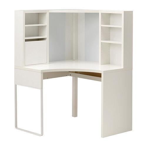 Ikea Micke Desk Table Computer Corner Work Station White 502 507 13