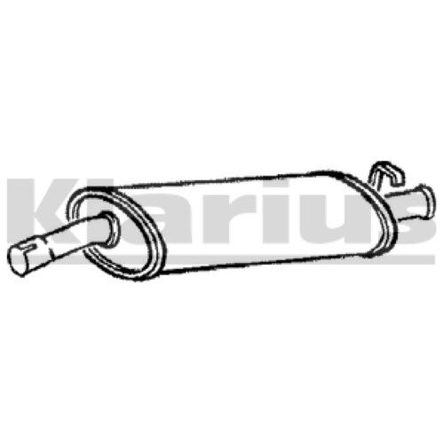 1x KLARIUS OE Quality Replacement Rear / End Silencer Exhaust For FIAT, VW