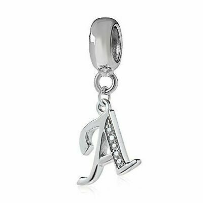 Authentic Pandora Sterling Silver Letter A - Z Initial Dangle Charm Clear CZ NEW
