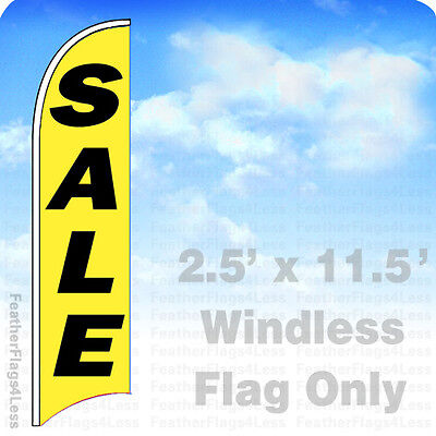 Sale Windless Swooper Flag Feather Banner Sign 2.5x11.5 - Yb