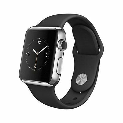 Apple Watch 1st Generation - 42mm - Stainless Steel Case/Black (MJ3U2LL/A)