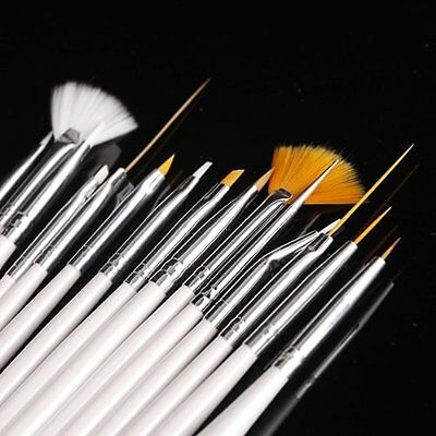 15pcs Nail Art Gel Design Pen PaInting Polish Brush Dotting Drawing Tool Set