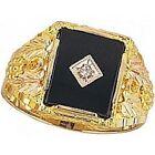 Onyx Multi-Tone Gold 10k Rings for Men