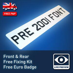 PAIR-of-UK-OLD-FONT-Pre-2001-Vintage-Car-Registration-Number-Plates-16A