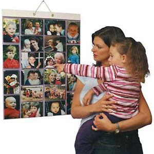 LARGE Hanging Photo / Picture Pockets Wall Display! NEW