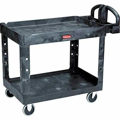 Rubbermaid Commercial Products 2-shelf Utilityservice Cart Medium Lipped She...