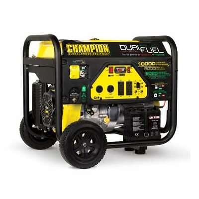 Champion 8000 Watt Quiet Electric Start Rv Ready Dual Fuel Generator Used