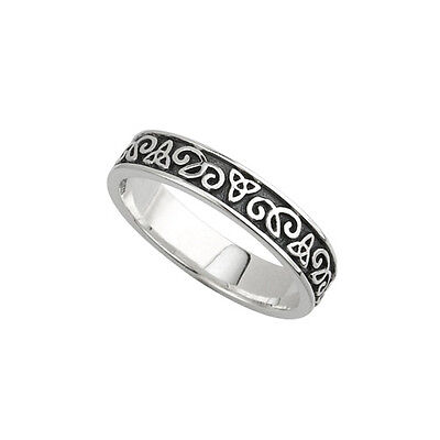 Sterling Silver Celtic Trinity  Knot Wedding Ring IRISH made Solvar Size 6