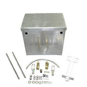Universal Polished Billet Aluminum Relocation Battery Box Kit w/ Hardware