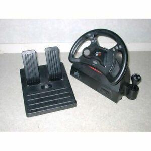 Volant et pédales pour Nintendo 64. Steering wheel and pedals.