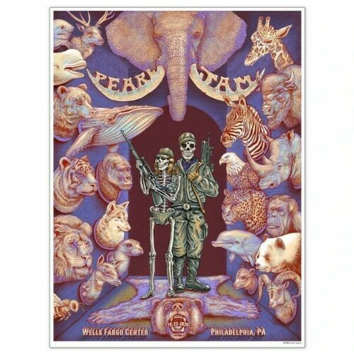 PEARL JAM EMEK- WELLS FARGO PHILADELPHIA STREAMING EVENT 10/22 POSTER