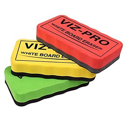Viz-pro Magnetic White Board Eraserdry Erase Eraser 3 Colored Eraser 3 Piece