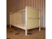 CLASSIC PINE WOOD COT BED CHILD BABY BED JUNIOR BED 2 IN 1 140 x 70 (PIN1)