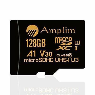 Amplim 128GB Micro SD SDXC V30 A1 Memory Card Plus Adapter P