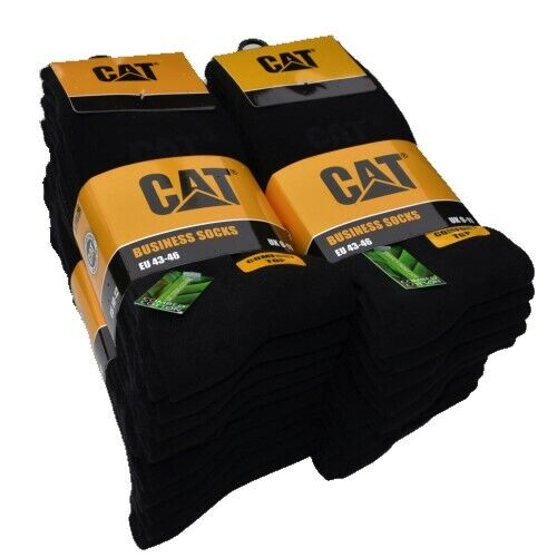 CAT® CATERPILLAR BUSINESS Socken 39-50 Herrensocken schwarz Komfortspitze