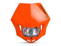 New Polisport MMX Headlight Enduro Road Legal Orange KTM EXC EXC-F