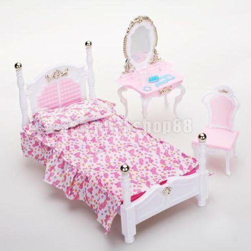 barbie schlafzimmer ebay. Black Bedroom Furniture Sets. Home Design Ideas
