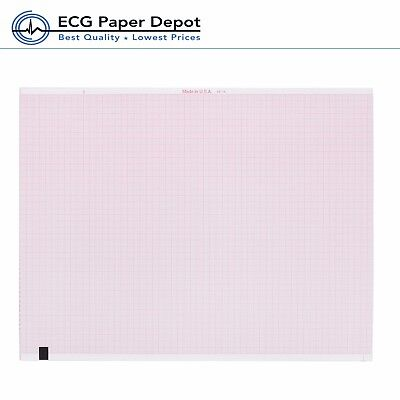 Ge-marquette Ecg Recording Machine Paper Ekg Paper Chart Red Grid Z-fold 5 Pack