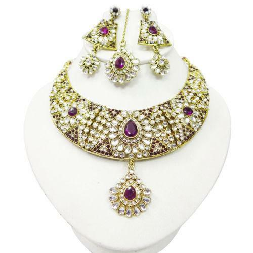 Purple indian jewelry ebay for East indian jewelry online