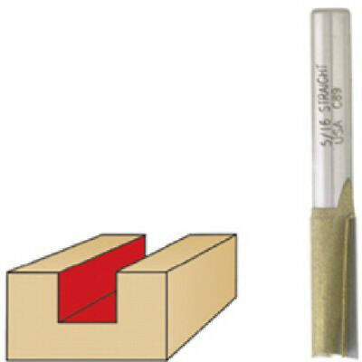 Vermont American 22449 9/16-Inch x 1-Inch Carbide Dbl Flute Straight Router -
