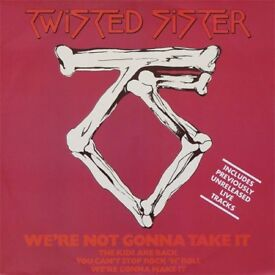 """Twisted Sister - 12"""" vinyl - We're Not Gonna Take It - 1984 -RARE !!"""