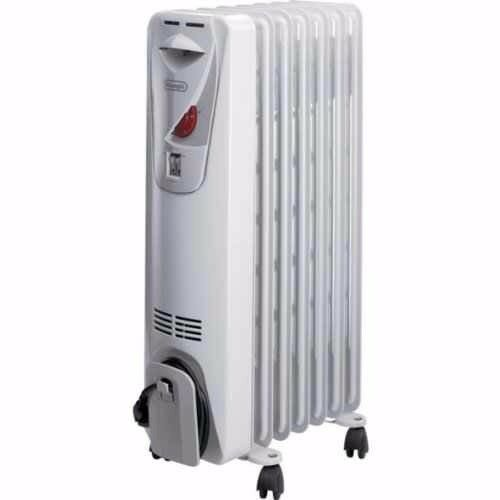 DeLonghi HORK KH190715 1.5kW Compact Portable Electric Oil Filled Convection Heater Radiator
