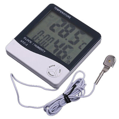 Digital LCD Thermometer Humidity Meter Clock show Indoor Outdoor temperature J8L