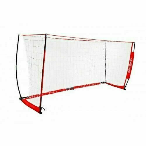PowerNet Portable 12x6 Soccer Goal Practice Training Net w/ Carrying Bag