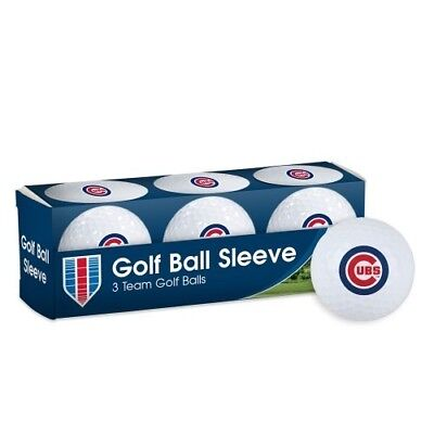 CHICAGO CUBS ~ (1) Sleeve of (3) Team Logo Golf Balls ~ New in Box! Chicago Cubs Logo Ball