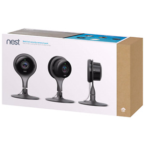 BRAND NEW SEALED NEST CAM WIFI SECURITY CAMERA - 3 PACK BLACK ☆☆
