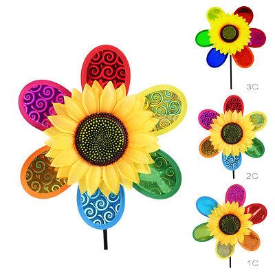 Little Dazzling Sun Flower Pinwheels Windmill Toy Outdoor Decor DIY Gift for - Diy Pinwheels