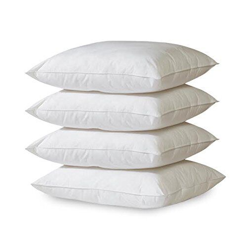 Set of Four Hypoallergenic Microfiber Pillows Bed Pillows