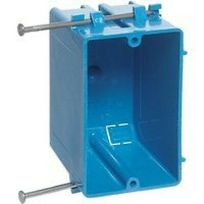 New Case 100 Carlon B118a Blue Pvc Single Gang Nail On Electrical Switch Box