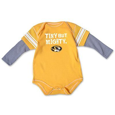 College Kids NCAA Missouri Tigers Infant Running Back Bodysuit, 18 Months, At...