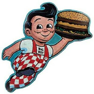 BIG BOY Vintage Metal Sign Wall Embossed Home Burger Wall Man Cave Classic Decor ()