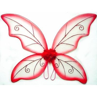 Red Adult Dress Up Fantasy Butterfly Fairy Wings Tinkerbell Womens Costume