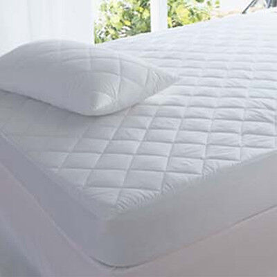 Quilted Mattress Protector Fitted Cover Single Double King SuperKing Luxury Deep