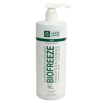 32 Ounce Quart Bottle - BIOFREEZE 32 OZ QUART PAIN RELIEVING GEL PUMP BOTTLE GENUINE PROFESSIONAL