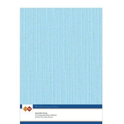 (EUR 4,81/m²) Leinenkarton 10xA4-Bogen lichtblau 28